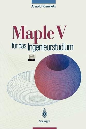 9783540602231: Maple V für das Ingenieurstudium