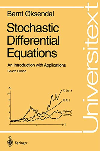 9783540602439: Stochastic Differential Equations: An Introduction With Applications (Universitext)