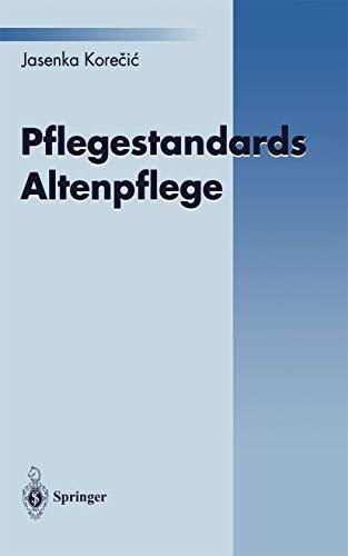 9783540602651: Pflegestandards Altenpflege