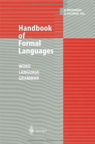 9783540604204: Handbook of Formal Languages: Volume 1. Word, Language, Grammar: Word, Language, Grammar v. 1