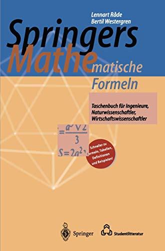 9783540604761: Springers Mathematische Formeln: Taschenbuch für Ingenieure, Naturwissenschaftler, Wirtschaftswissenschaftler (German Edition)