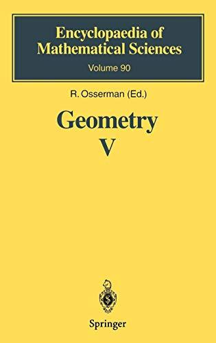 9783540605232: Geometry V: Minimal Surfaces (Encyclopaedia of Mathematical Sciences) (v. 5)