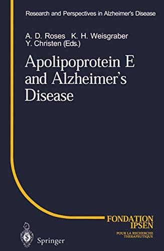 9783540607984: Apolipoprotein E and Alzheimer's Disease