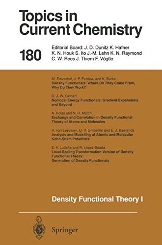 9783540610915: Density Functional Theory I: Functionals and Effective Potentials (Topics in Current Chemistry 180)