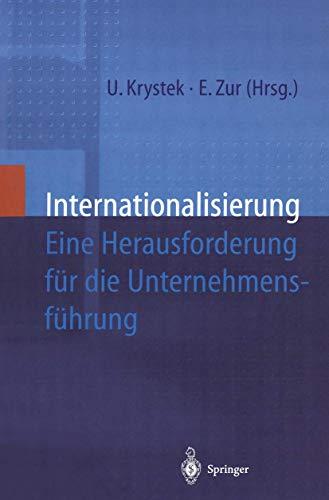 9783540618430: Internationalisierung: Eine Herausforderung Fur Die Unternehmensfahrung (English and German Edition)