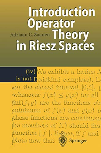 9783540619895: Introduction to Operator Theory in Riesz Spaces