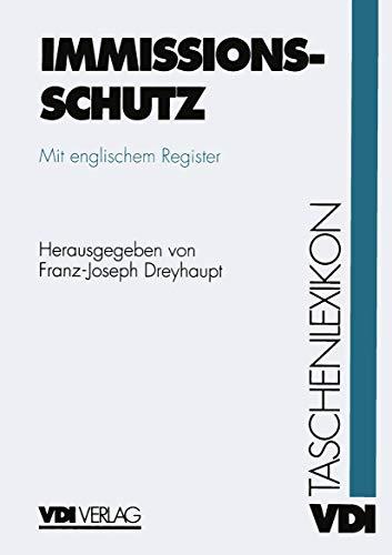 9783540620693: VDI-Taschenlexikon Immissionsschutz (VDI-Buch)