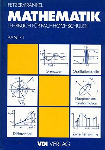 9783540622901: Mathematik 1: Lehrbuch Fa1/4r Fachhochschulen (VDI-Buch)