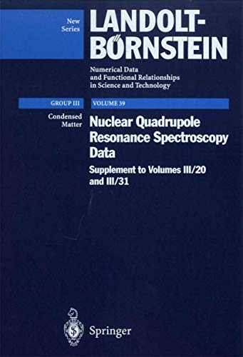 Nuclear Quadrupole Resonance Spectroscopy Data (Hardcover): N. Nakamura