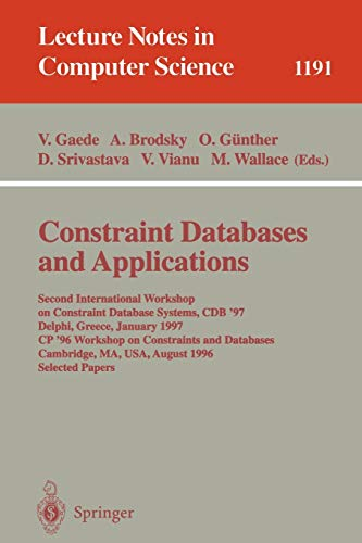 Constraint Databases and Applications: Second International Workshop: V. Vianu ,