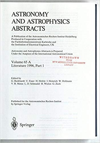 Astronomy and Astrophysics Abstracts: Vol. 65 A and Vol. 65 B