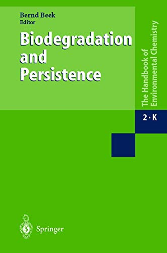 9783540625766: Biodegradation and Persistence