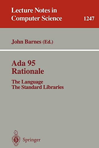 Ada 95 Rationale: The Language, the Standard Libraries. January 1995