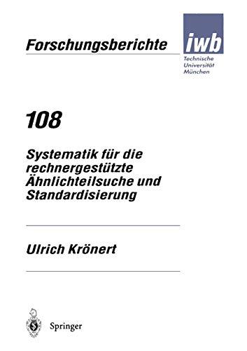 9783540633389: Systematik Fa1/4r Die Rechnergesta1/4tzte A