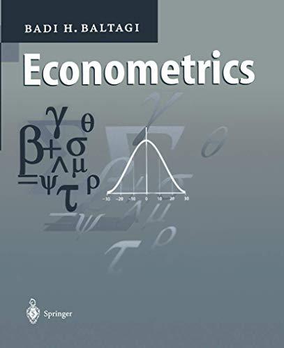 9783540636175: Econometrics