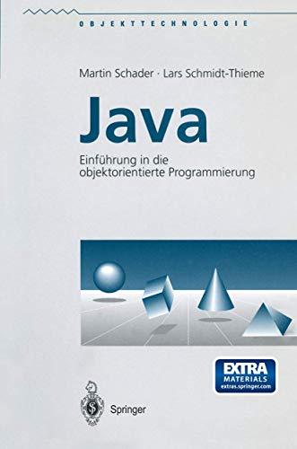 9783540637707: Java. Einf�hrung in die objektorientierte Programmierung