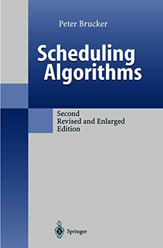 9783540641056: Scheduling Algorithms