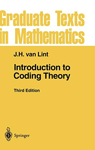 9783540641339: Introduction to Coding Theory (Graduate Texts in Mathematics)