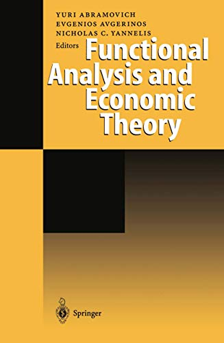 9783540644958: Functional Analysis and Economic Theory