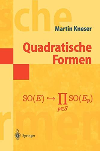 9783540646501: Quadratische Formen (Masterclass) (German Edition)