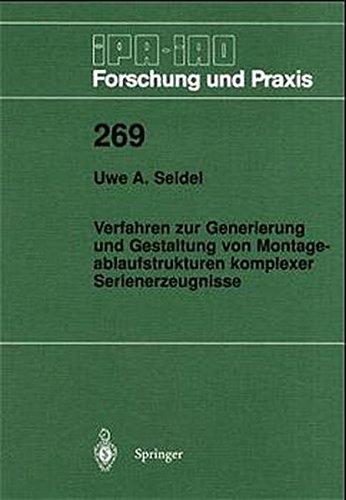 9783540646877: Verfahren Zur Generierung Und Gestaltun (IPA-Iao - Forschung Und Praxis)