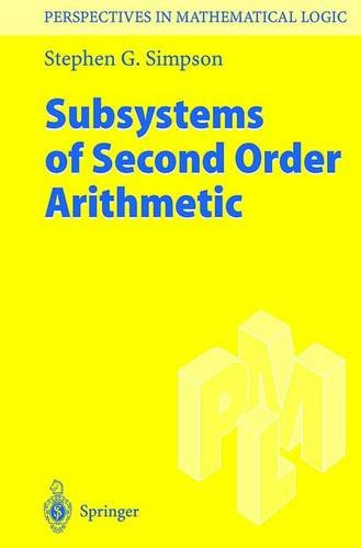 9783540648826: Subsystems of Second Order Arithmetic (Perspectives in Mathematical Logic)
