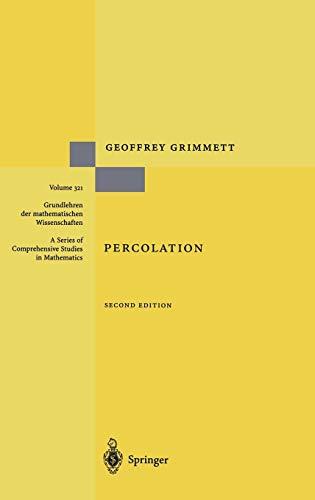 9783540649021: Percolation (Grundlehren der mathematischen Wissenschaften)