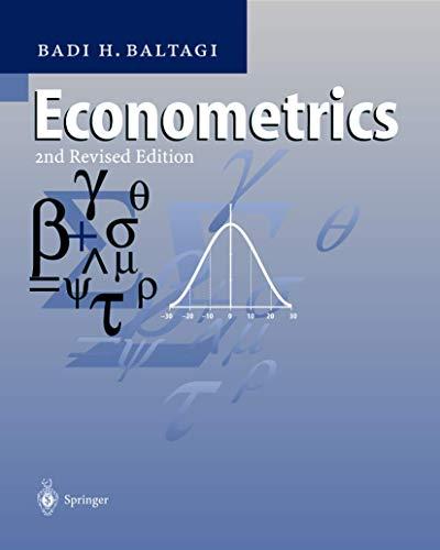 9783540654179: Econometrics