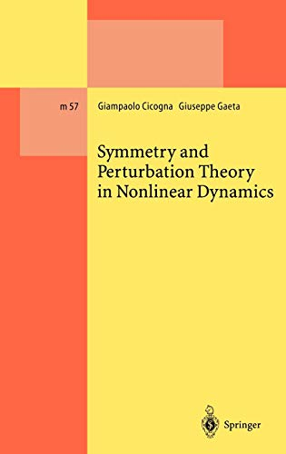 9783540659044: Symmetry and Perturbation Theory in Nonlinear Dynamics (Lecture Notes in Physics Monographs)