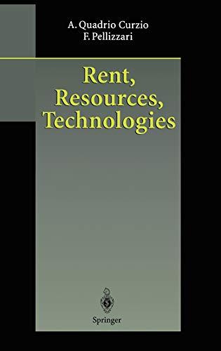 Rent, Resources, Technologies: Quadrio Curzio, Alberto,