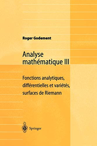 9783540661429: Analyse Mathématique III