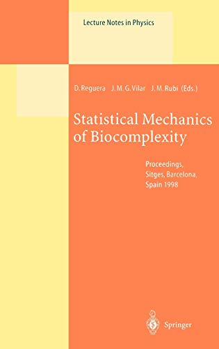 9783540662457: Statistical Mechanics of Biocomplexity: Proceedings of the XV Sitges Conference, Held at Sitges, Barcelona, Spain, 8-12 June 1998 (Lecture Notes in Physics)