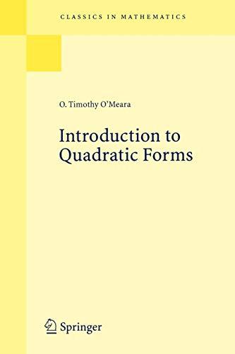 9783540665649: Introduction to Quadratic Forms (Classics in Mathematics)