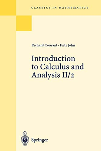9783540665700: Introduction to Calculus and Analysis, Vol. II/2 (Classics in Mathematics)