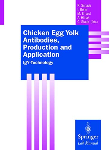 9783540666790: Chicken Egg Yolk Antibodies, Production and Application: IgY-Technology (Springer Lab Manuals)