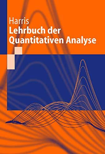 9783540670063: Lehrbuch Der Quantitativen Analyse