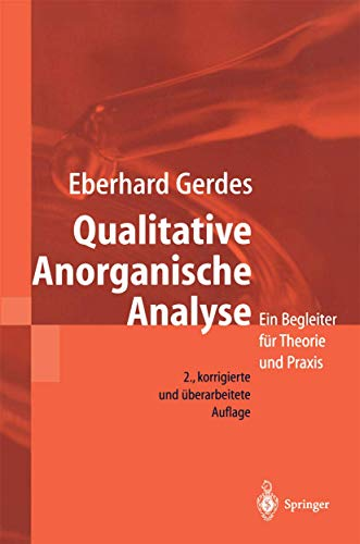 9783540670186: Qualitative Anorganische Analyse