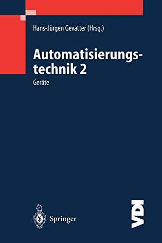 9783540670858: Automatisierungstechnik 2: Geräte (VDI-Buch)