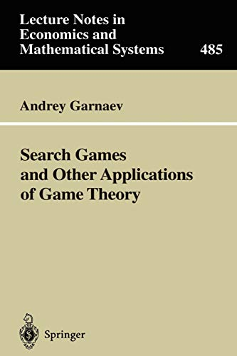 9783540671954: Search Games and Other Applications of Game Theory
