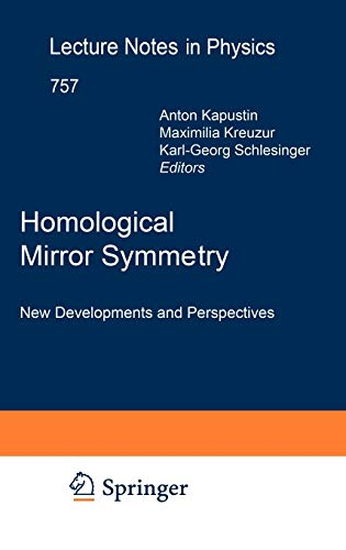 9783540680291: Homological Mirror Symmetry: New Developments and Perspectives (Lecture Notes in Physics)