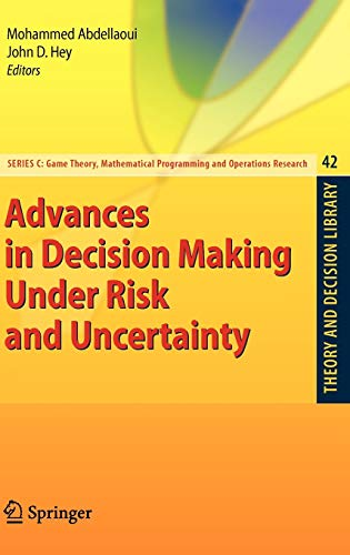9783540684367: Advances in Decision Making Under Risk and Uncertainty (Theory and Decision Library C)