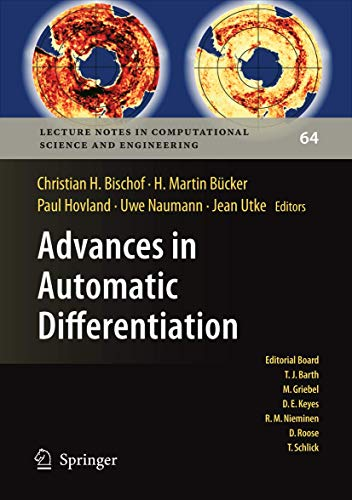 9783540689355: Advances in Automatic Differentiation (Lecture Notes in Computational Science and Engineering)