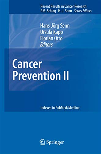9783540692966: Cancer Prevention II: No. 2 (Recent Results in Cancer Research)