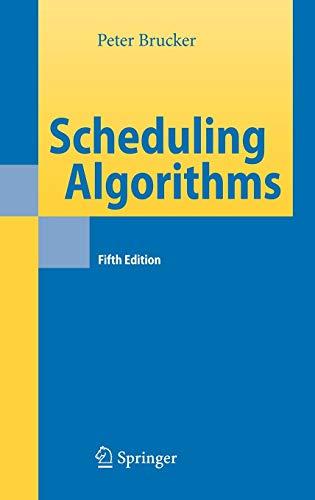 9783540695158: Scheduling Algorithms