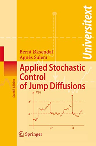 9783540698258: Applied Stochastic Control of Jump Diffusions (Universitext)
