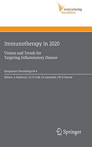 9783540708506: Immunotherapy in 2020: Visions and Trends for Targeting Inflammatory Disease (Ernst Schering Foundation Symposium Proceedings)