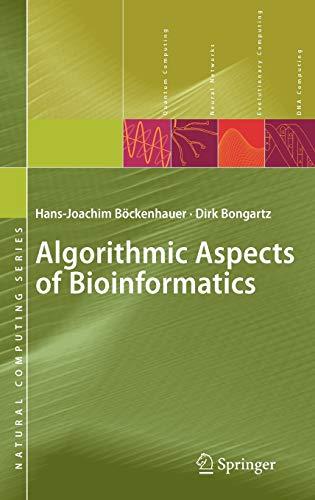 9783540719120: Algorithmic Aspects of Bioinformatics