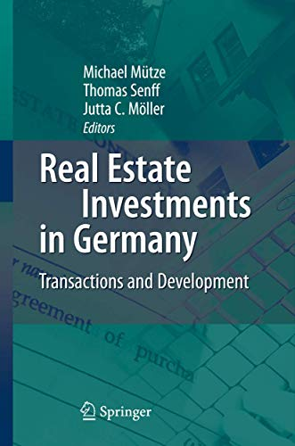 9783540721789: Real Estate Investments in Germany: Transactions and Development