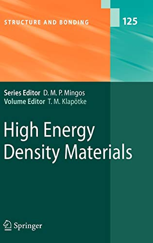 9783540722014: High Energy Density Materials (Structure and Bonding)