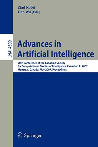 Advances in Artificial Intelligence: 20th Conference of the Canadian Society for Computational ...